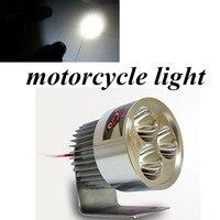 DC 12V -80V super brightness light 1PC motorcycle LED Light 9W 4beads external motorcycle headlight lamp