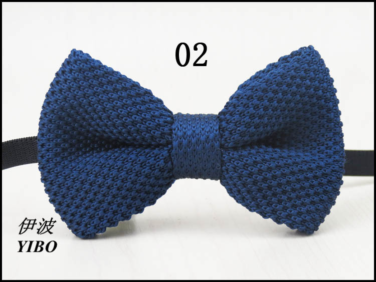 Kids Knitted Bow Tie Plaid Striped Butterfly Baby Bowtie Knit