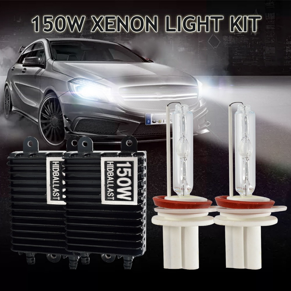 Taitian 2Pcs bulb h1 Hid 150W Xenon kit 12V 6000K 4300K Canbus h7 Car lamp ballast h4 bi-xenon H3 fog light h11 H8 9005 HB3 9006 d1 d2 d3 d4 d1s led canbus 60w 8400lm car bulb auto lamp headlight fog light conversion kit replace halogen and xenon hid light