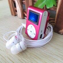 2016 nouveau Mini Clip MP3 LCD Écran MP3 Player support 2G 4G 6G 8G Micro TF/SD Portable MP3 Lecteur de Musique avec écouteurs et câble
