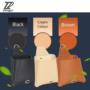 ZD 1X Car Air outlet mobile phone pocket Leather storage bag For Hyundai solaris creta Mazda 3 6 cx-5 Renault megane accessories image