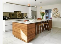 2019 hot sales 2PAC kitchen cabinets white color modern high gloss lacquer kitchen furnitures pantry L9002