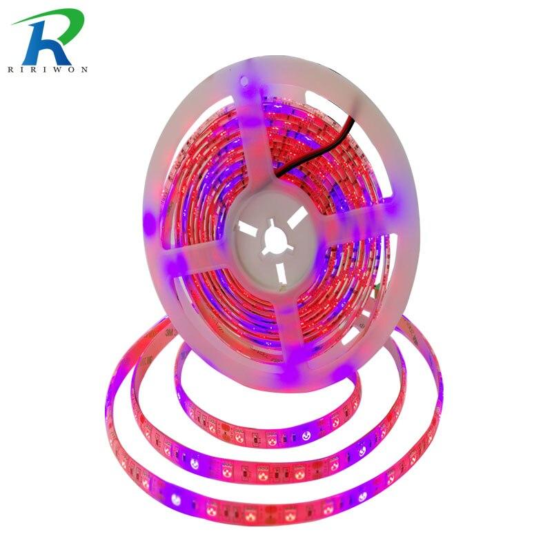 RiRi будет 2X5 м светодиодный завода растут полосы света Водонепроницаемый 5050 SMD гидропонных систем светодиодный s полосы 36 вт полный спектр ра... ...