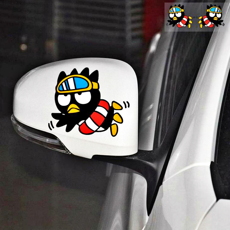 Aliauto 2 X Car-<font><b>styling</b></font> Cartoon Cool Penguin Swim Rearview Sticker Decal for Motorcycle <font><b>Volvo</b></font> Xc90 S60 S80 S40 <font><b>V50</b></font> Xc70 V40 image