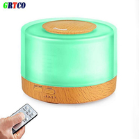 GRTCO 500ML Essential Oil Diffuser Wood Grain Base Aroma Air Humidifier Ultrasonic Cool Mist Humidifier With