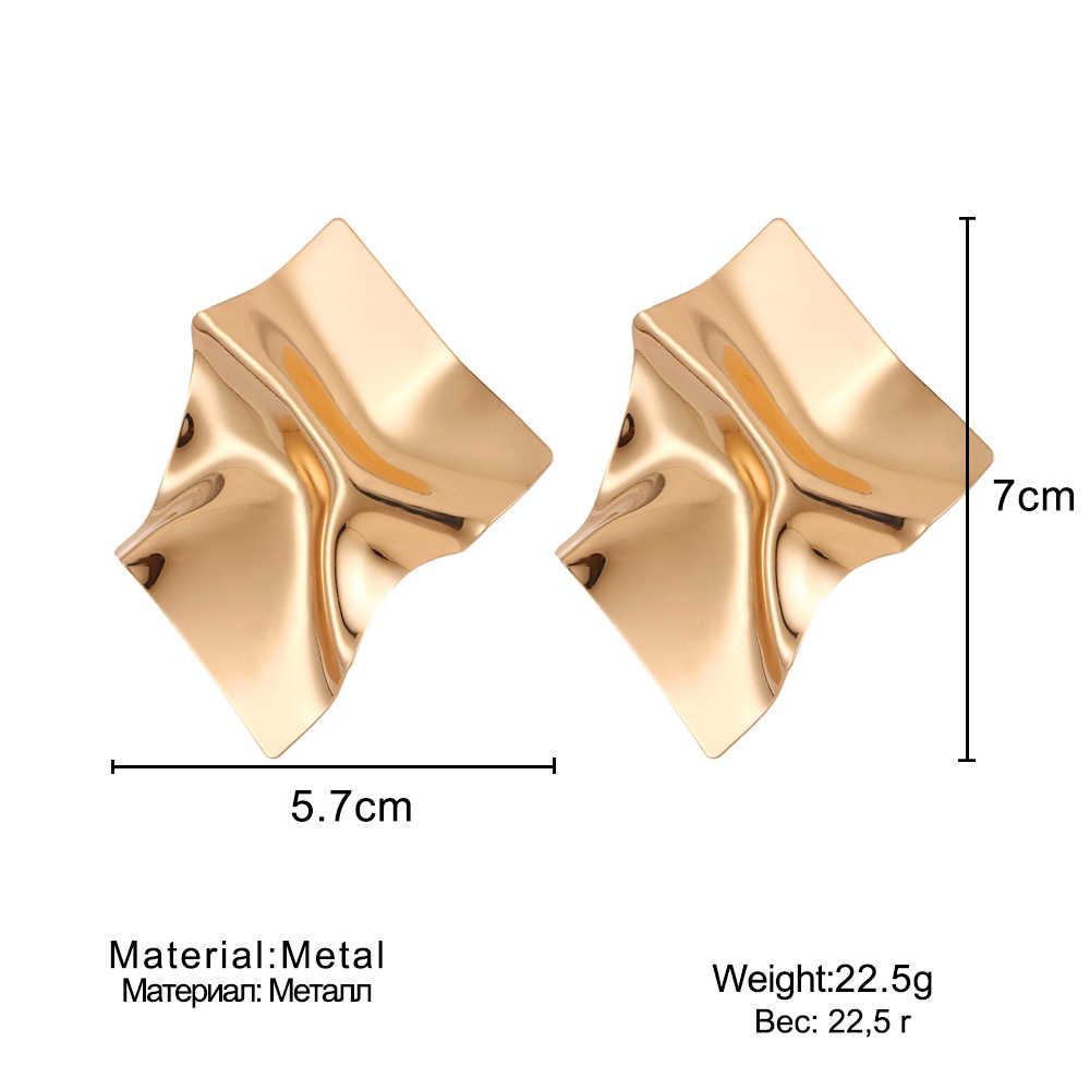 IPARAM מתכת stud עגילי 2018 גדול גיאומטרי עגילים לנשים עגילי הצהרת מודרני אמנות מסיבת פאנק חרישת תכשיטים