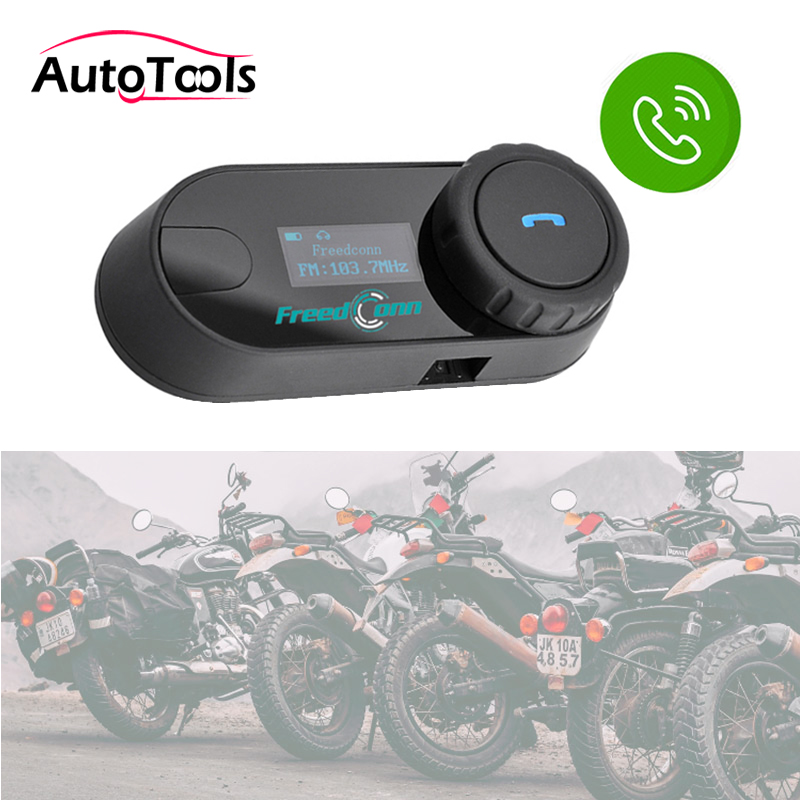 1PC TCOM-SC Bluetooth Motorcycle Motorbike Helmet Intercom Headset With FM Radio With LCD Screen Motorcycle Accessories