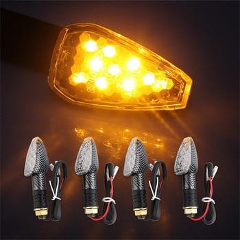 LED Amber Motorcycle Turn Signal Light Blinker Flasher 12V Motorcycle Flashers lighting motorcycle indicator