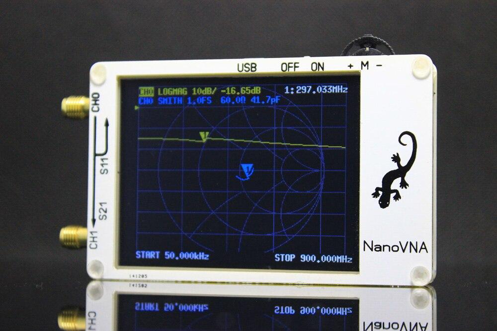 Analyseur de réseau vectoriel DYKB NanoVNA 50 KHz-900 MHz affichage LCD numérique HF VHF UHF analyseur d'antenne onde debout USB puissance