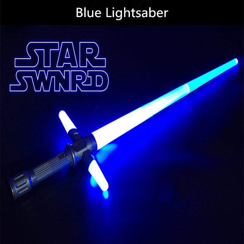 NEW Star Wars Telescopic Light Sword Sound Led Flashing Toys Weapons Can Mutual percussion Sabers toy for Children Gifts