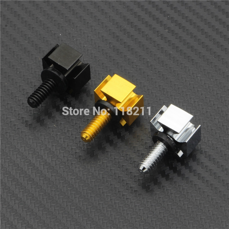 RPMMOTOR Seat Bolt Tab Screw Mount Knob Cover Kit For Harley Dyna Sportster Touring Black/Gold/Silver