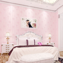 Modern South Korean Style Flower Romantic Marriage Room Bedroom Living Wall Paper