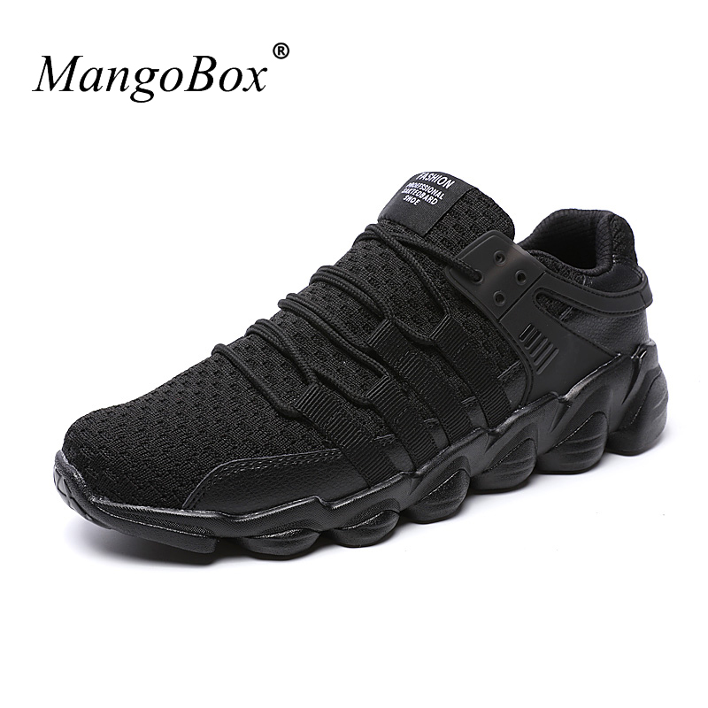 2017 New Big Size Man Sport Shoes Lightweight Walking Jogging Sneakers Black White Mens Training Shoes Comfortable Mens Runners