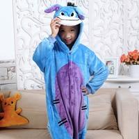 Unisex Kinder Kleidung Esel Tier Pyjamas Cosplay Kostüme kinder kleidung Jungen Mädchen robe Flanell nachtwäsche Onesies Pyjama