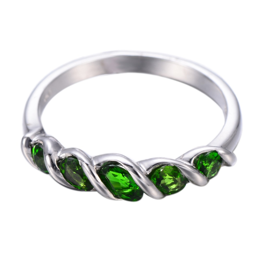 Details about  /Chrome Diopside Handmade Natural Gemstone Ring 0.68 Ct 10k Rose Gold Jewelry
