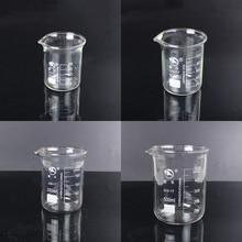 1ชุด (50Ml,100Ml,200Ml,500Ml) ถ้วยแก้วBorosilicateการทดลองทางเคมีความร้อนResist Labware Beaker Laboratoryอุปกรณ์