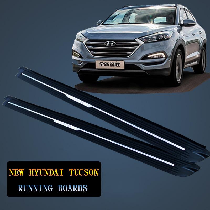 Pour Pour nouveau Hyundai Tucson 2015-2017 Voiture Marchepieds Auto Side Step Bar Pédales Nouvelle OEM Produit