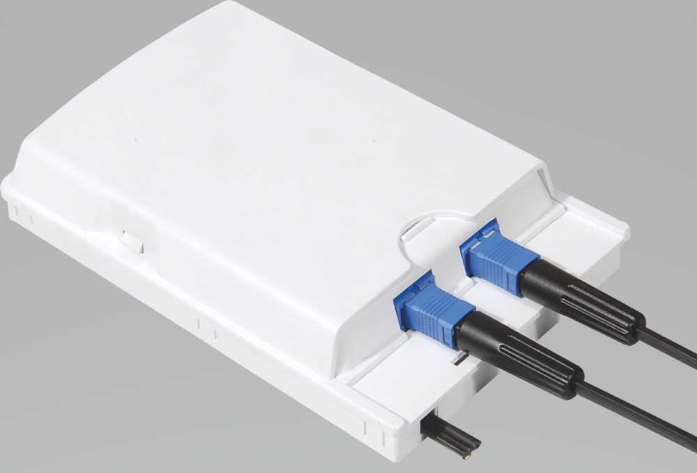 FTTH ODN 2 cores fiber Termination Box ports channels socket Splitter indoor outdoor Optical