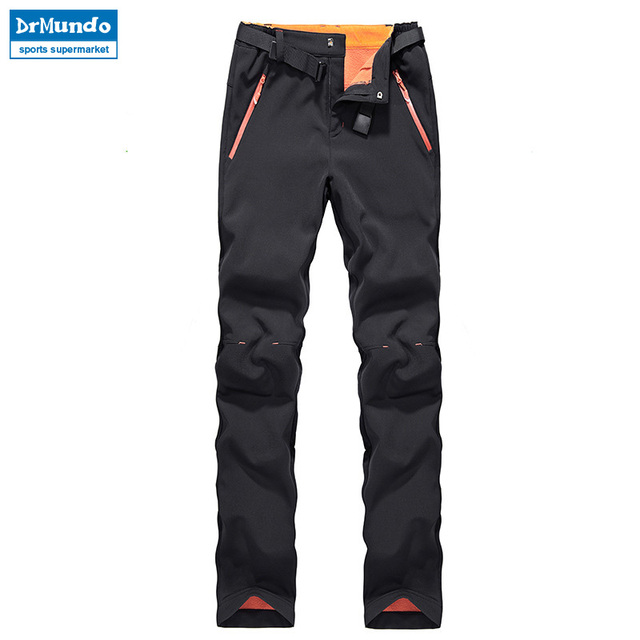Winter women ski pants waterproof soft shell fleece pant thicken outdoor  thermal fleece snowboard trousers skiing b7d9478bc