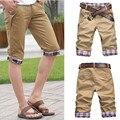 2016 летом стиль бренда мужские шорты мужские случайные джинсовые шорты для мужчин две пряжки карман бермуды masculina де marca колено длина