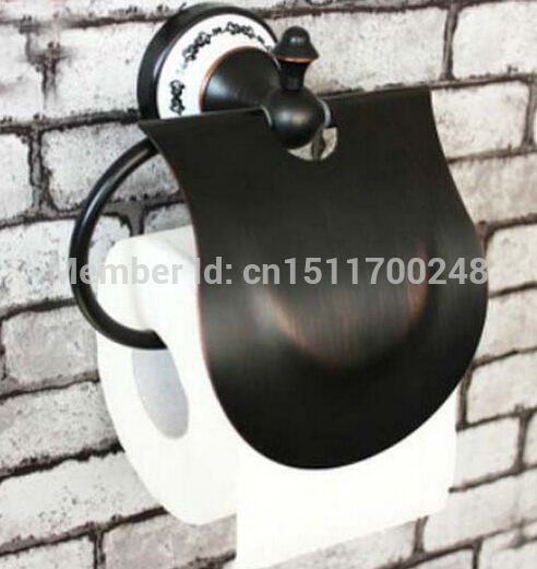 Bathroom Oil Rubbed Bronze Wall Mounted Toilet Paper Holder