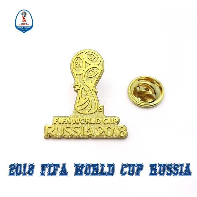 5619f8903713 Officially authorized world cup 2018 football Russia 2018 national team  Hercules Cup LOGO Golden badge fans souvenirs limited