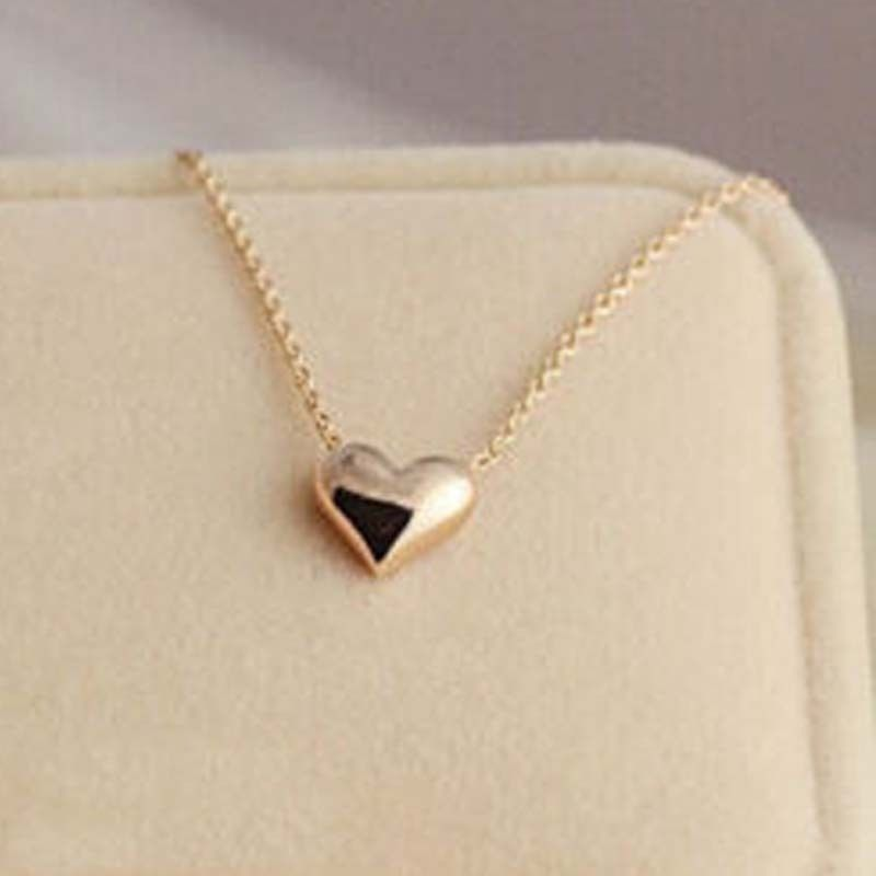 Fashion Lovely Ladies Simple Design Exquisite Gold Chain Heart Love ...