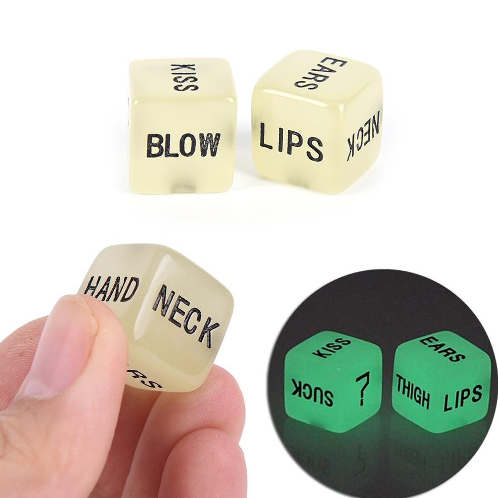 2 pièces drôle sexe dés & dés sac Sexy Romance amour humour jeu dés jeux pour adultes érotique Craps Pipe pour Couples cadeau jeux de société