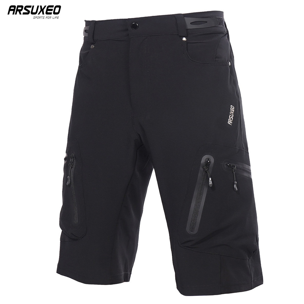 ARSUXEO Men's Outdoor Sports Cycling Shorts MTB Downhill Shorts Mountain Bike Bicycle Shorts Water Resistant Loose Fit 1202 цена 2017