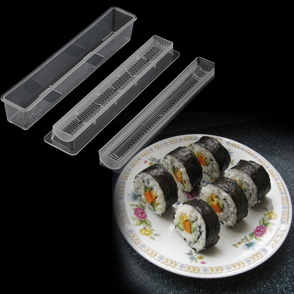 2017 New Arrival Sushi Roll Rice Maker Mould Roller Mold DIY Non-stick Easy Chef Kitchen Tools image