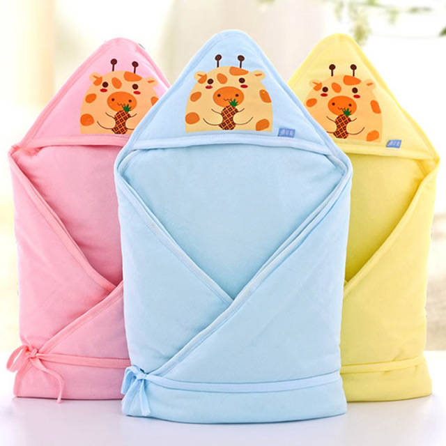 Newborn Receiving blankets Cute Wrap Newborn Baby Sleeping Bags Unisex 0-6 months Cotton Baby Blanket Cobertor Cartoon Style