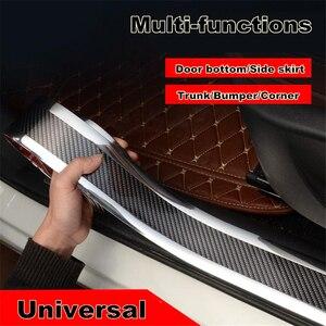 Image 5 - 2,5 Mx3cm Auto Tür schwellen verschleiss Pedal Carbon Faser Aufkleber Fender Side Körper Rock Schützen Vorne stoßstange Hinten