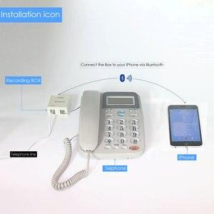 Image 5 - الهاتف الثابت مكالمة مسجل مسجل صوت المكالمات الهاتفية التلقائي جهاز تسجيل بدون بطاقة الذاكرة اللازمة
