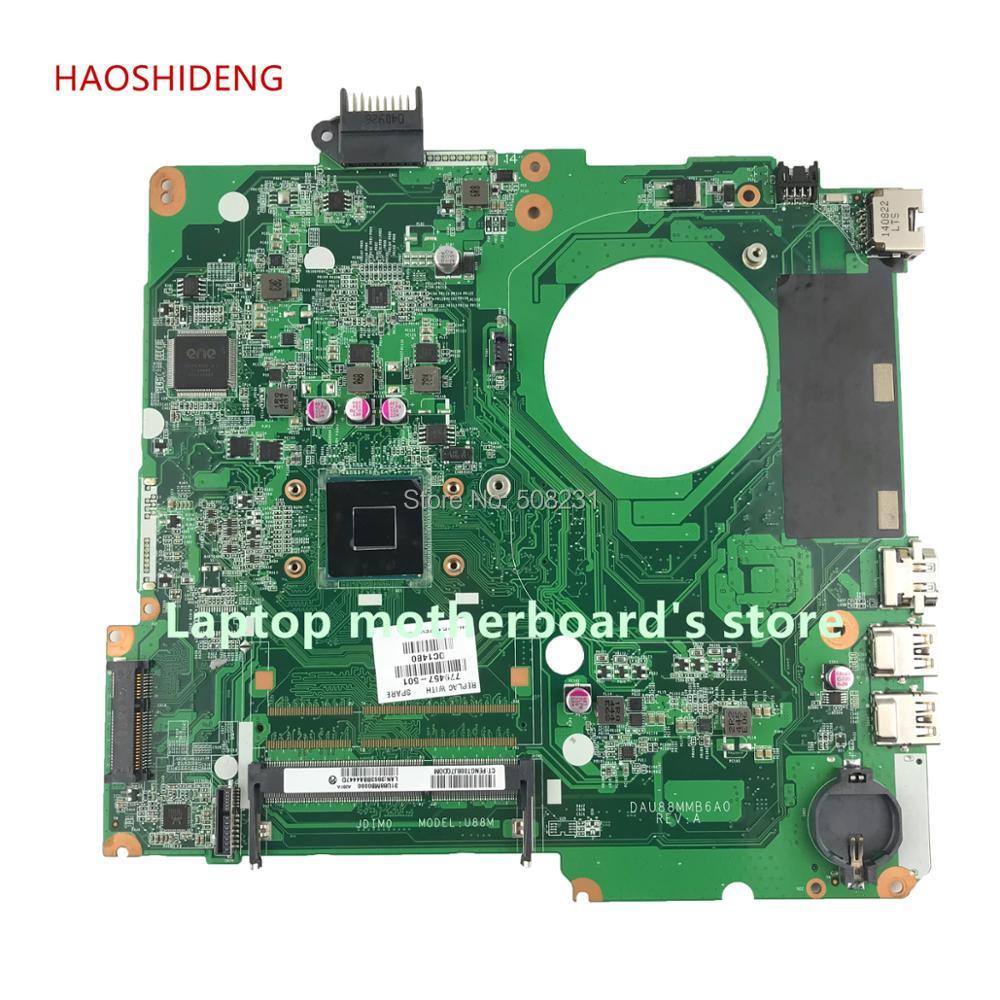 HAOSHIDENG 779457-501 779457-001 U87 U88 mainboard for HP Pavilion 15-N 15-F series laptop motherboard with N2830 fully Tested haoshideng 828164 001 da0u8amb6a0 laptop motherboard for hp pavilion 15 15 f motherboard