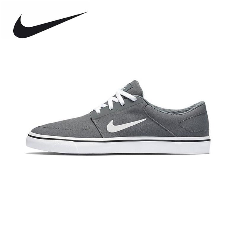 Original New Arrival Authentic Nike SB PORTMORE CNVS Hard-Wearing Men's Skateboarding Shoes Sports Sneakers Trainers кеды nike кеды nike sb portmore cnvs