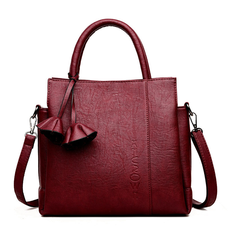 3 Bag Women Casual Tote Bag Female Handbag Large Big Shoulder Bags for Women 2018 Ladies Vintage Genuine Leather Crossbody Bag genuine leather female handbag autumn bag large size women shoulder bag daily vintage women bag causal bag