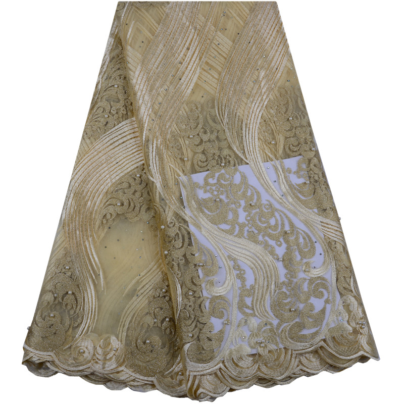 2019 New Style French Net Lace Fabric African Tulle Mesh Lace Fabric High Quality African Lace
