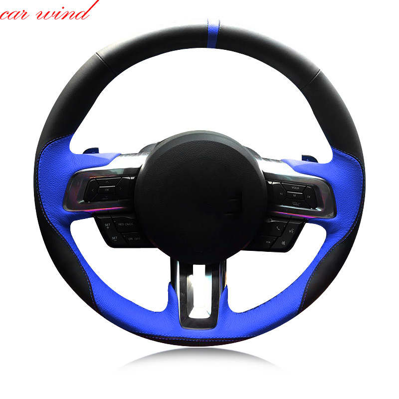 Car steering wheel cover For ford fiesta bmw e39 f30 focus 2 mondeo mk4 nissan note vw golf 6 5 7 steering wheel car accessories
