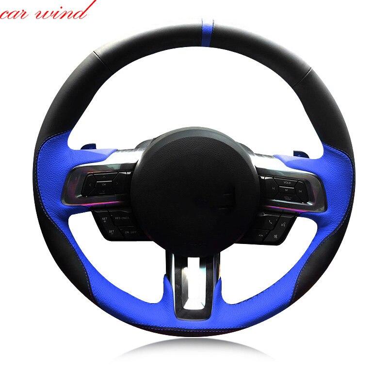 Housse de volant de voiture pour ford fiesta bmw e39 f30 focus 2 mondeo mk4 nissan note vw golf 6 5 7 accessoires de volant de voiture