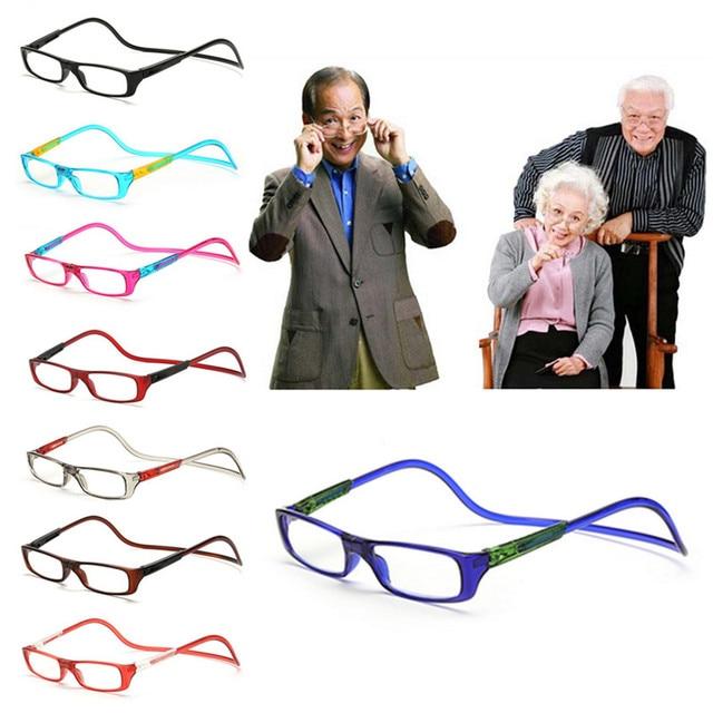 1PC Magnet Reading Glasses Adjustable Hanging Neck Presbyopic Glasses Unisex