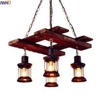 IWHD Retro Loft Vintage Pendant Lamp Restaurant American Country Edison Industrial Light Fixtures Lamparas Colgantes Lampen