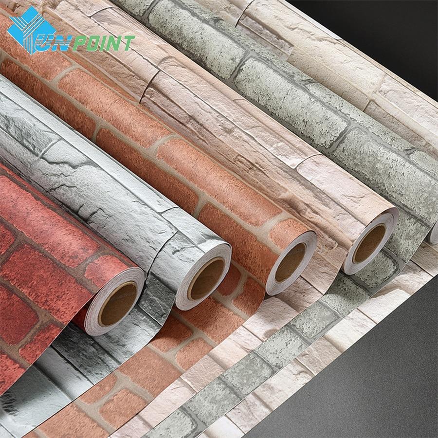 Vertical Brick Wall Accents Wall Decal: 0.6x3m Creative Brick Wall Sticker Removable Vinyl Art