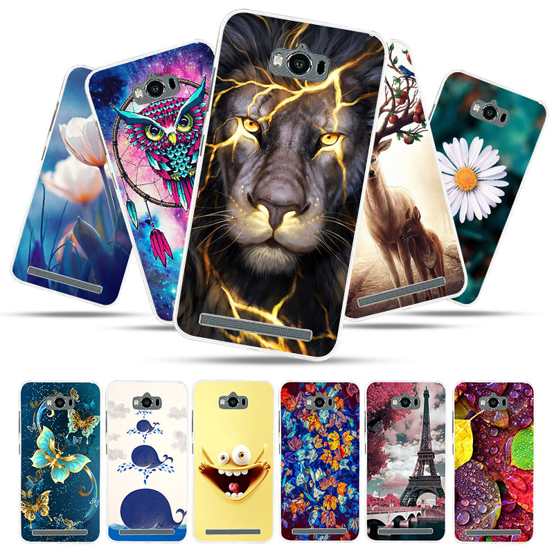 Bolomboy Painted Case For <font><b>ASUS</b></font> Zenfone MAX ZC550KL Case Silicone Soft TPU Cases For Cover Wildflowers Cute Animal Bags image