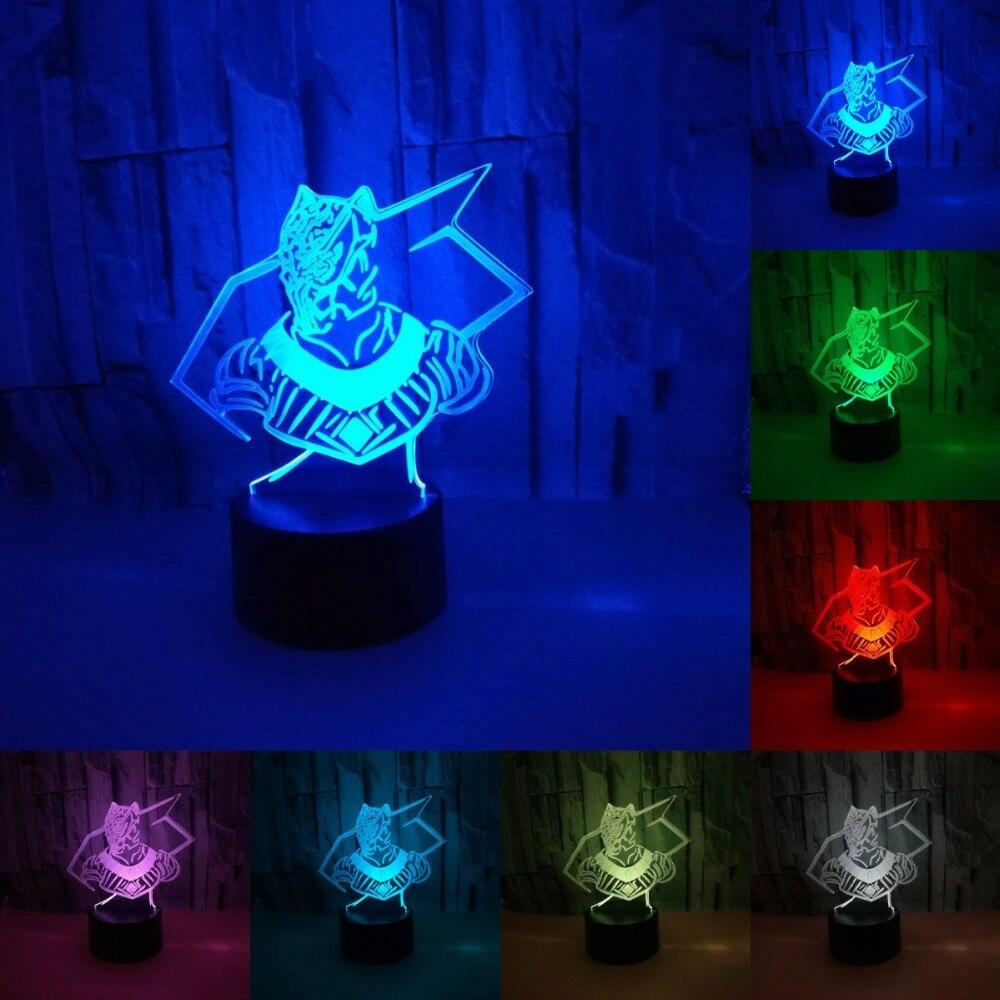 Black Panther Superhero 3D lamp Led Night Light Lamp LED desk table nightlight Spaceship Colorful USB LED Acrylic lamp IY803044