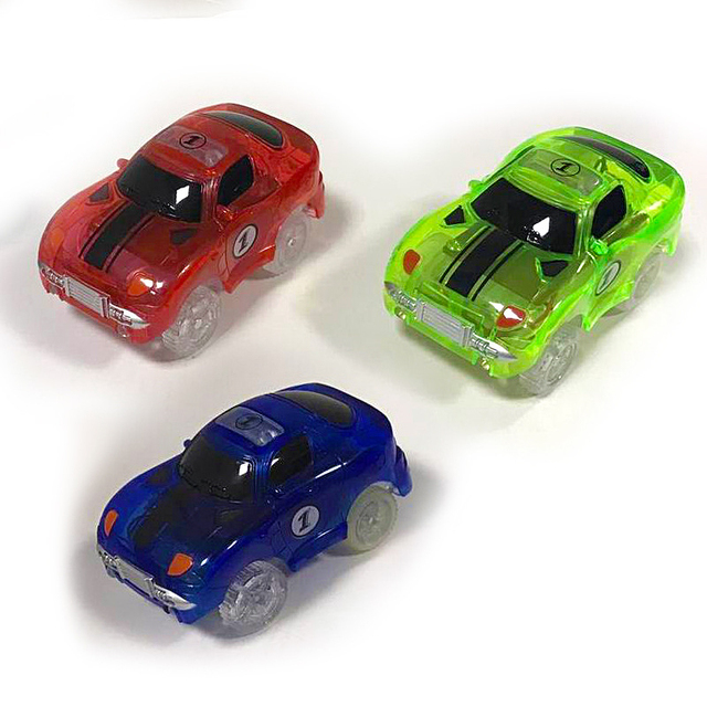 6 Style Glowing Race Track Car Electric Led Flashing Light Cars For Looping Run Tracks Toys Fire Truck Racing Kids Toy