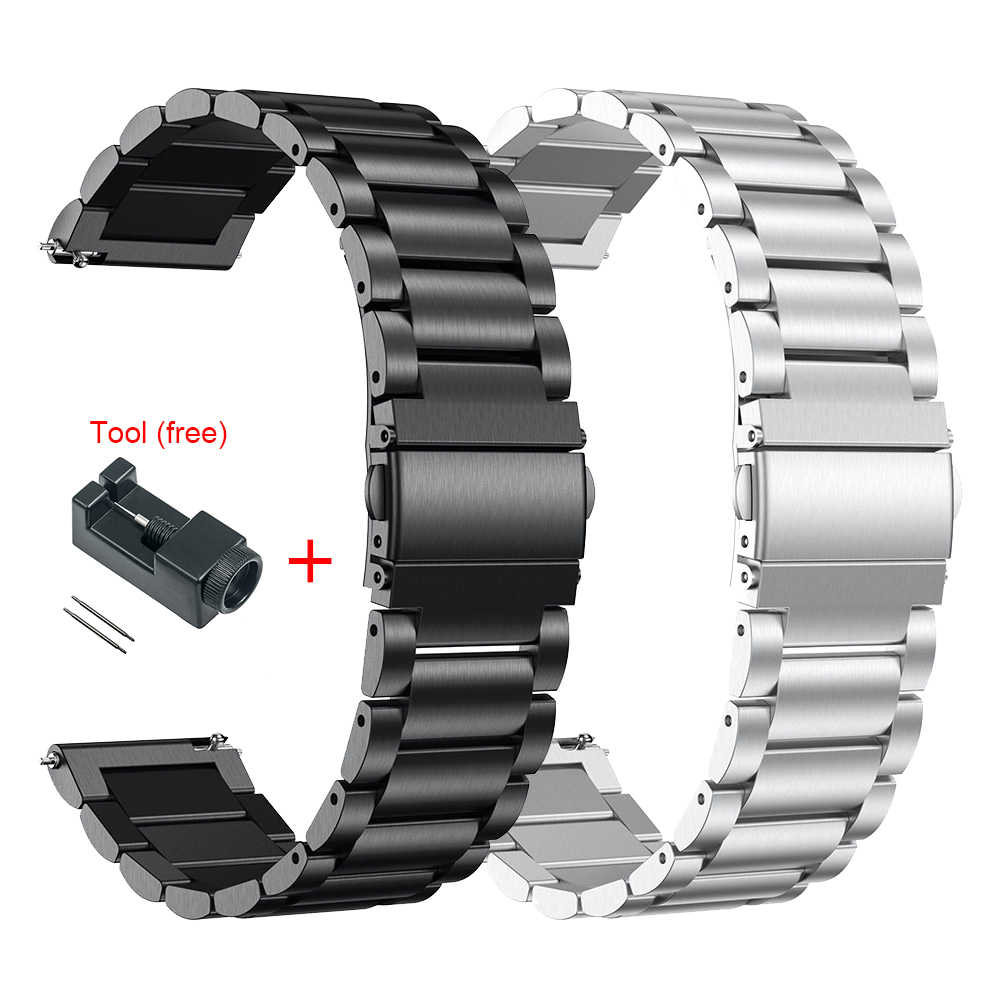 Metal Stainless Steel Strap for Xiaomi Huami Amazfit GTR 47mm 42mm Bracelet Wrist Band for Huami Amazfit GTS Bip Youth Watchband