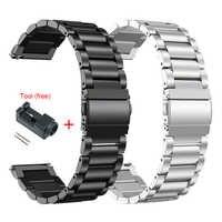 Металлический ремешок из нержавеющей стали для Xiaomi Huami Amazfit GTR 47 мм 42 мм браслет на запястье для Huami Amazfit Bip BIT Молодежный ремешок для часов