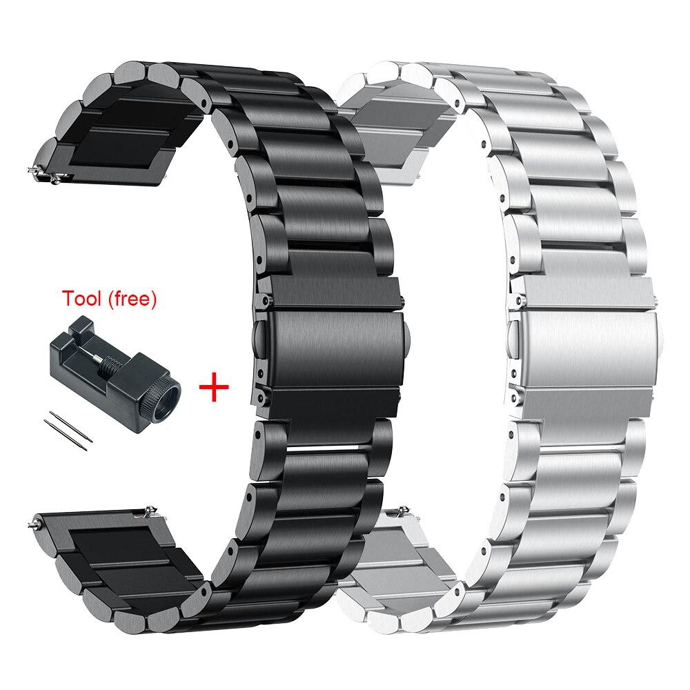 Correa de Metal para Xiaomi Huami Amazfit GTR de 47mm y 42mm, correa de acero inoxidable para relojes inteligentes Huami Amazfit GTS Bip Youth