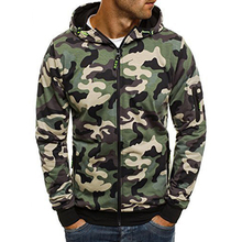 2019 New Camouflage Mens Sets Cotton Sweatshirts Fashion Casual Sportswear Slim Fit Hip Hop Hooded Tracksuit