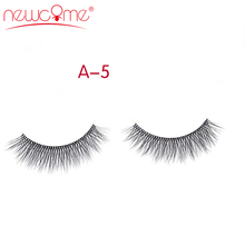 NEWCOME 3D Thick Natural Handmade Full Strip Lashes Korean Mink False Eyelashes Fake Long Makeup Eye Lash 3 pairs